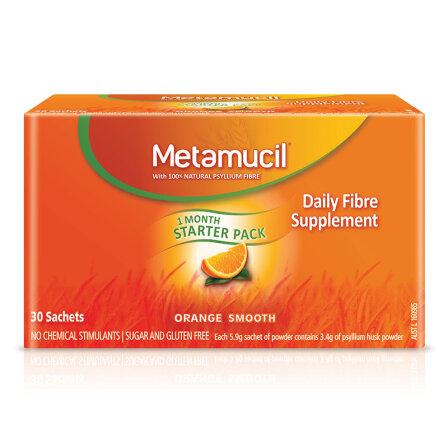 美达施( Metamucil ) 膳食吸油纤维粉 香橙幼滑口味 30次装