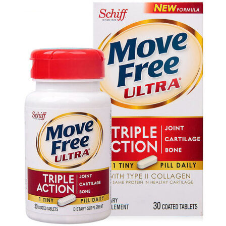 Schiff Move Free维骨力氨糖软骨素 骨骼健康 胶原蛋白+氨糖 白盒30粒 1盒