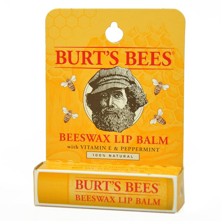 小蜜蜂 Burt's Bees 保湿滋润护唇膏孕妇宝宝都可用4.25g 多味可选 蜂蜡 淡薄荷味