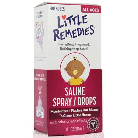 小鼻子Little Remedies婴儿滴鼻剂 0岁以上30ml 美国进口