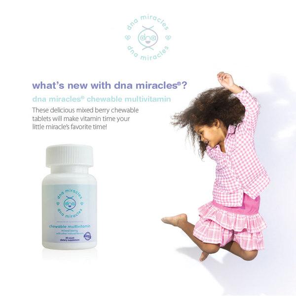 美国美安DNA儿童Miracles综合维生素咀嚼片Chewable Multivitamin