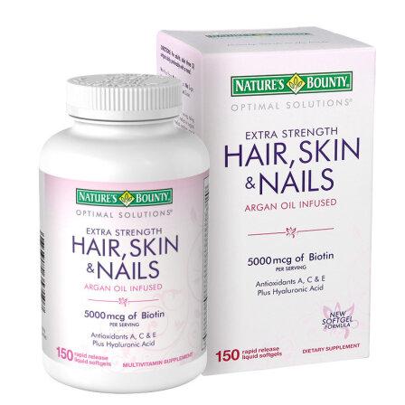 自然之宝发甲宝 复合维生素软胶囊 滋养头发皮肤指甲 150粒瓶