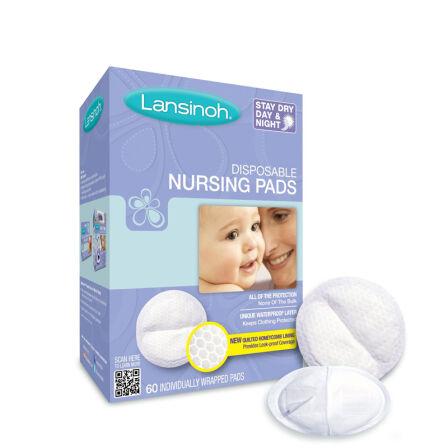 Lansinoh 轻薄防渗/防溢乳垫 60片装 哺乳期必备品 1盒60片