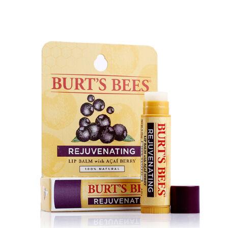 唇膏 Burt's Bees小蜜蜂美国进口唇部天然滋润护唇 男女士润唇膏非唇彩口红 巴西蓝莓