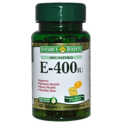 美国原装进口自然之宝 维生素E-400胶囊水溶性100粒