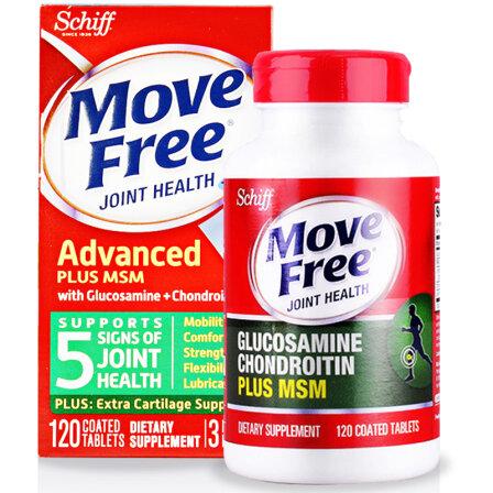 Schiff Move Free维骨力氨糖软骨素 骨骼健康 氨糖+MSM 绿盒120粒 1盒