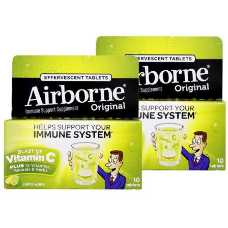 Schiff Airborne 维生素VC泡腾片 柠檬味 10片 1瓶