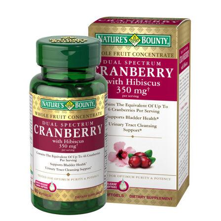 自然之宝蔓越莓提取物软胶囊 抑菌防感染 抗氧化 350mg 60粒瓶