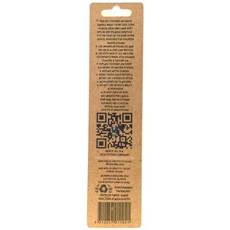 吉克吉尔 Jack n'jill 儿童软毛牙刷 玉米淀粉可降解 兔子图案 美国进口 1支/盒