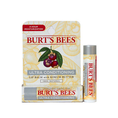 唇膏 Burt's Bees小蜜蜂美国进口唇部天然滋润护唇 男女士润唇膏非唇彩口红 绿洲藤黄果味